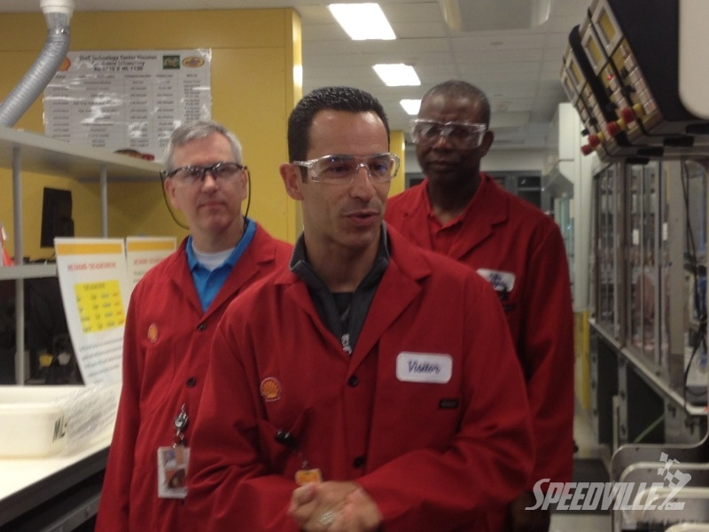 Helio Houston Shell Lab Tour Talking Oil During Shell Technology Tour at Grand Prix of Houston by Authcom, Nova Scotia\s Internet and Computing Solutions Provider in Kentville, Annapolis Valley