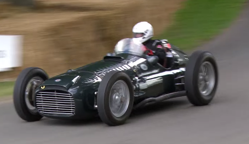 Video 1950 brm v16 vintage racer screams down the track speedville