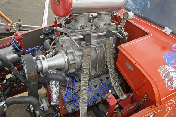 This Ford B Block engine was bored and stroked to over 300 cubic inches.