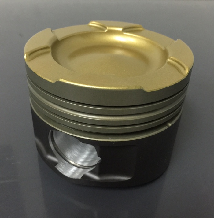 When ordering a set of custom pistons, one of the things you'll have to consider is the type of coating you want. There is top thermal coating, anodizing, wrist pin bore anti-wear coating, and anti-scuff skirt coating. Photo courtesy of Diamond Racing Products.
