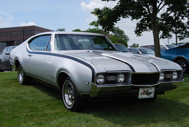 The '69 Hurst Olds was silver and black.
