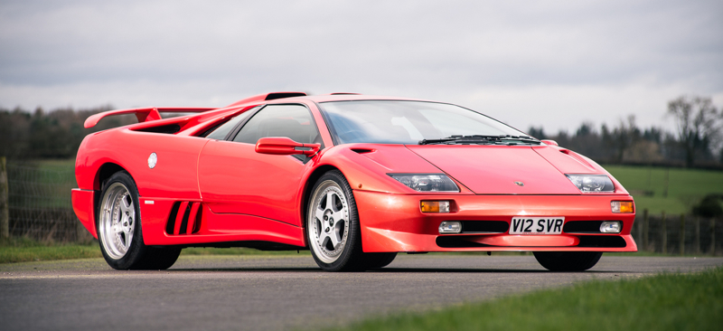 A very special 1999 Lamborghini Diablo SV will be auctioned at Silverstone Auctions' sale at the Practical Classics Restoration and Classic Car Show.