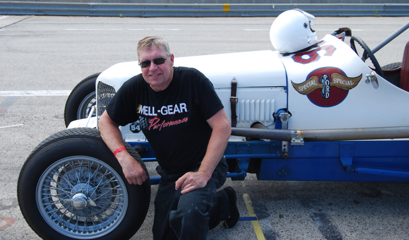 At the recent Miller Meet Dave Sarna caught a ride in a '33 Ford Indy car and got fired up about going back to Utah.